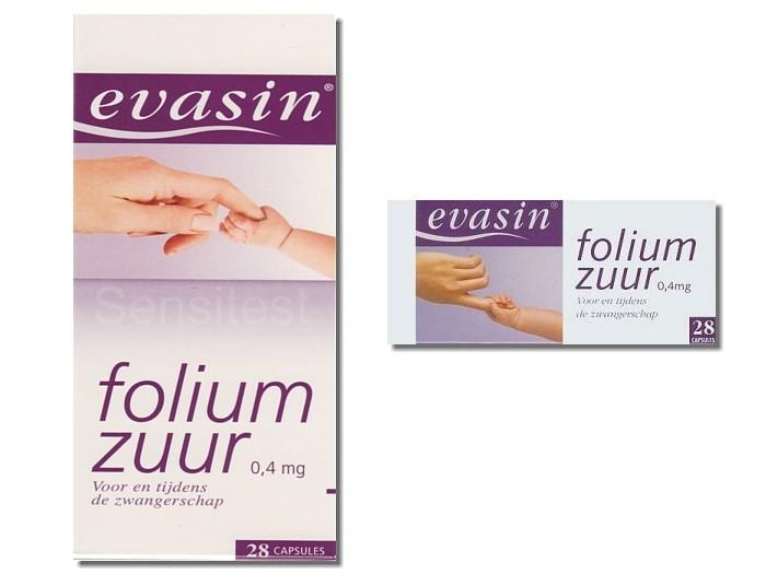 Evasin Foliumzuur 28 Stuks 495 Sensitest