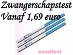 Zwangerschapstesten type dipstick al vanaf 1,69 euro.