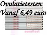 Je hebt al een pakket ovulatietesten vanaf 6,49 euro.