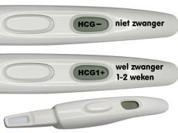 De zwangerschapstest geeft aan of je zwanger bent